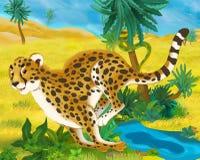 Cartoon scene - wild africa animals - cheetah Stock Photos