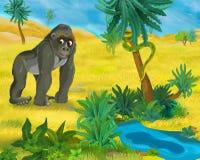 Cartoon scene - wild africa animals - hyena Stock Images