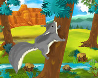 Cartoon scene - wild africa animals - squirrel Stock Image
