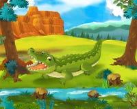 Cartoon scene - wild africa animals - squirrel Stock Photo