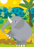 Cartoon scene - wild animals - elephant Royalty Free Stock Photos