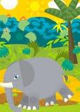 Cartoon scene - wild animals - elephant Stock Photos