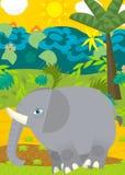Cartoon scene - wild animals - elephant Royalty Free Stock Image