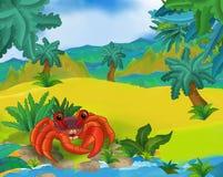 Cartoon scene - wild south america animals - crab Stock Photo