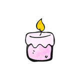 Cartoon scented candle Stock Images