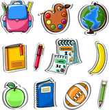 Cartoon school bag,vector Royalty Free Stock Photo