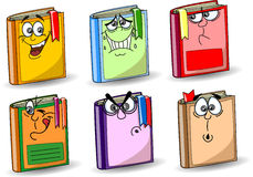 Cartoon school books, vector Royalty Free Stock Photo