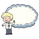 Cartoon school boy with idea Stock Image
