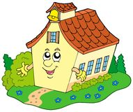 Cartoon school building Royalty Free Stock Photo