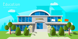 Cartoon school building Stock Photography