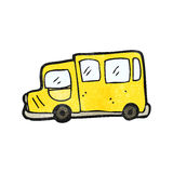 Cartoon school bus Stock Image