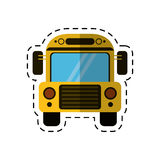 Cartoon school bus transport design Stock Photos
