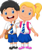 Cartoon school children Royalty Free Stock Image
