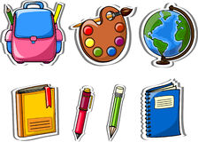 Cartoon school icons,vector Royalty Free Stock Photo
