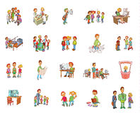Cartoon school Stock Photos