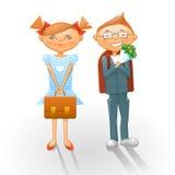 Cartoon school kids Stock Image