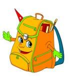 Cartoon school satchel. For education concept. Vector illustration Stock Photography