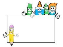 Cartoon school supplies Royalty Free Stock Image