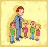 Cartoon school teacher illustration , vector icon. Royalty Free Stock Photo