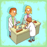 Cartoon science illustration , vector icon. Royalty Free Stock Images