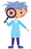 Cartoon scientist Stock Image