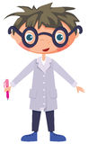 Cartoon scientist Stock Photo