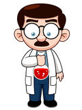 Cartoon Scientist. Illustration of Cartoon Scientist holding test-tube Royalty Free Stock Images