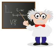 Cartoon scientist Royalty Free Stock Photography