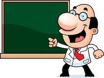 Cartoon Scientist Chalkboard Stock Photo