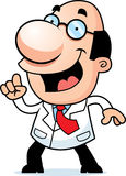 Cartoon Scientist Idea Stock Image
