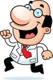 Cartoon Scientist Running Stock Photos