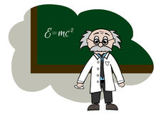 Cartoon scientist Royalty Free Stock Images