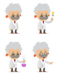 Cartoon Scientists Stock Photography