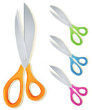 Cartoon Scissors Set Stock Photography