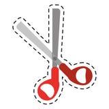 Cartoon scissors tool school icon Stock Photos