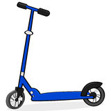 Cartoon scooter Royalty Free Stock Images