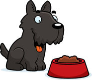 Cartoon Scottie Food Royalty Free Stock Image