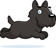 Cartoon Scottie Running Stock Photo