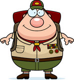 Cartoon Scoutmaster Backpack Royalty Free Stock Photos