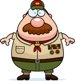 Cartoon Scoutmaster Mustache Royalty Free Stock Photo