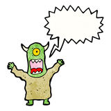 Cartoon screaming monster Royalty Free Stock Images