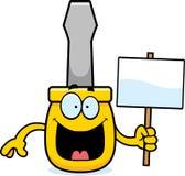 Cartoon Screwdriver Sign Royalty Free Stock Photography