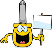 Cartoon Screwdriver Sign Stock Photos