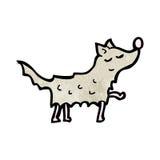 Cartoon scruffy dog. Retro cartoon with texture. Isolated on White Stock Photography