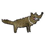 Cartoon scruffy dog. Retro cartoon with texture. Isolated on White Stock Image