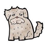 Cartoon scruffy dog. Retro cartoon with texture. Isolated on White Stock Photo