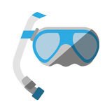 Cartoon scuba dive mask tube. Vector illustration eps 10 Royalty Free Stock Photography
