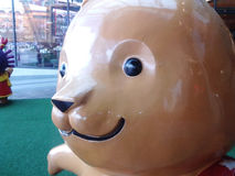 Cartoon Sculpture. At mall Stock Image