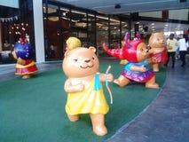 Cartoon Sculpture. At mall Stock Images