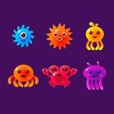 Cartoon Sea Animals, Marine Life Colorful Vector Stock Photography